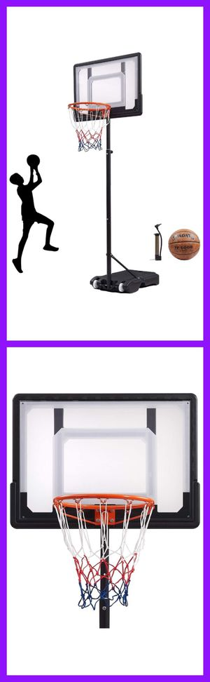 "Portable Basketball Hoop,Outdoor Free Standing Basketball Hoop & Stand System for Kid with 35"" Backboard, Adjustable Basketball Hoop for Kids 5.5 to for Sale in Eastvale, CA"