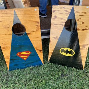 Superman And Batman Corn Hole Boards for Sale in Fort Meade, FL