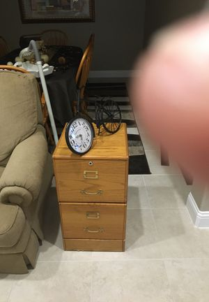 Oak file cabinet for Sale in Spring, TX