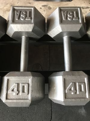 Hex Dumbbells (2x40s) for $60 Firm!!! for Sale in Burbank, CA