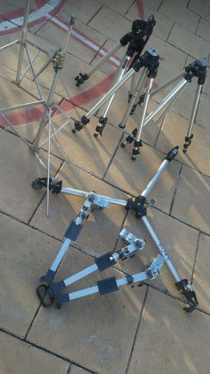 Tripods for lights and camera also folly for Sale in West Palm Beach, FL