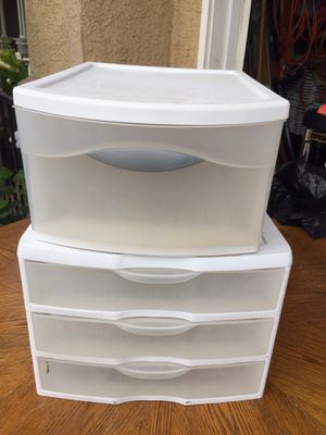 Plastic organizer/ drawers both $5 for Sale in Ontario, CA