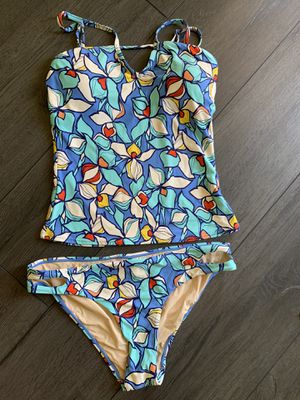 Anthropologie Allihop floral tankini swim top and bottom for Sale in El Monte, CA