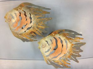 Metal fish wall decoration candleholders for Sale in Stockton, CA