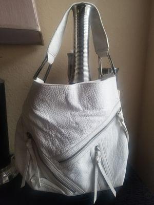 Carlos Santana white pebble faux leather handbag for Sale in Tampa, FL