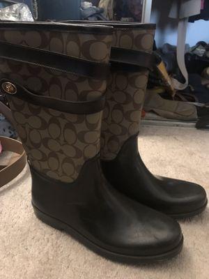 COACH Rain Boots SIZE 10 for Sale in Atlanta, GA