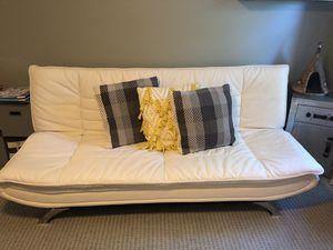 White Vegan leather futon for Sale in Alpharetta, GA