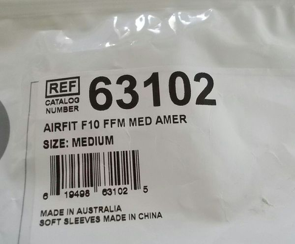 NEW Resmed MED AirFit F10 Full Face Mask Headgear Cushion #63102 Complete Set Up