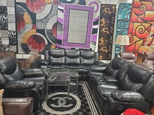 SOFA LOVE AND CHAIR RECLINING WITH CUPHOLDERS for Sale in Chicago, IL