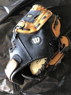 Youth Wilson baseball glove with ball for Sale in Oakwood, GA