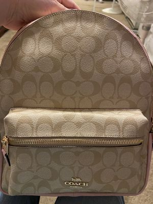 brand new Coach Charlie Backpack in pink/canvas color for Sale in Spring Valley, CA
