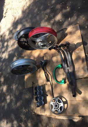 Motorcycle parts Suzuki rims katana rear break 99 CBR exhaust manifold CBR carbs for Sale in Ocoee, FL