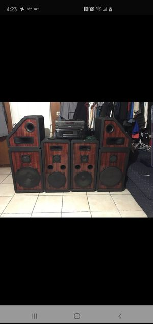 "PRO STUDIO HOME SPEAKERS 🔊 15"" & 12""ONKYO AUDIO VIDEO CONTROL TUNER - AMPLIFIER R1(Technics SL-PD887 (5CD Changer) with 🔊 speakers 🔊 for Sale in Fort Pierce, FL"