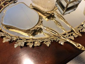 Antique Set tray brass for Sale in Evanston, IL