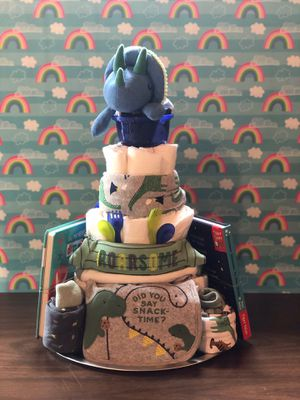 Dinosaur Diaper Cake for Sale in Maryland Heights, MO