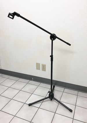 Brand New $15 Microphone Boom Stand Mic Clip Holder Studio Arm Adjustable Foldable Tripod for Sale in Pico Rivera, CA