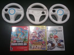 Mario Brothers Wii games with wheels for Sale in Kirkland, WA