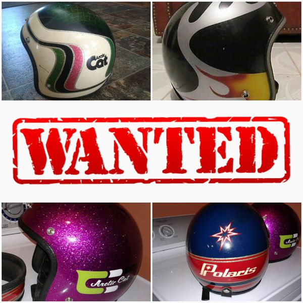 WANTED vintage helmets and snowmobile related items