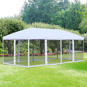 10' x 20' Pop Up Party Tent Gazebo Wedding Canopy with Removable Mesh Sidewalls - Cream White for Sale in Los Angeles, CA