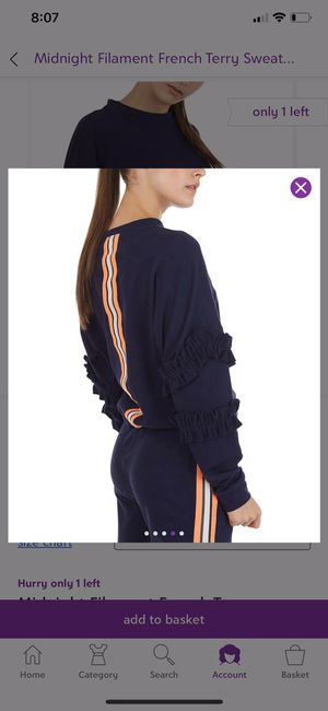 Cute set navy blue French terry jogger and sweatshirt for Sale in Bakersfield, CA