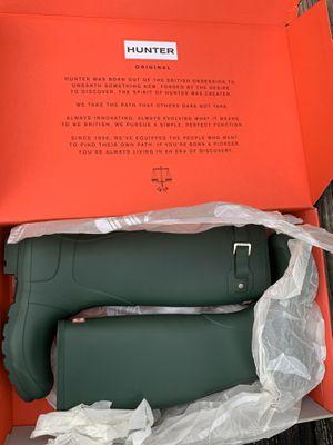 Hunter Boots Green Sz 7 for Sale in Hillside, IL