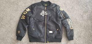 Bape gold flight bomber jacket embroidery for Sale in Glen Burnie, MD