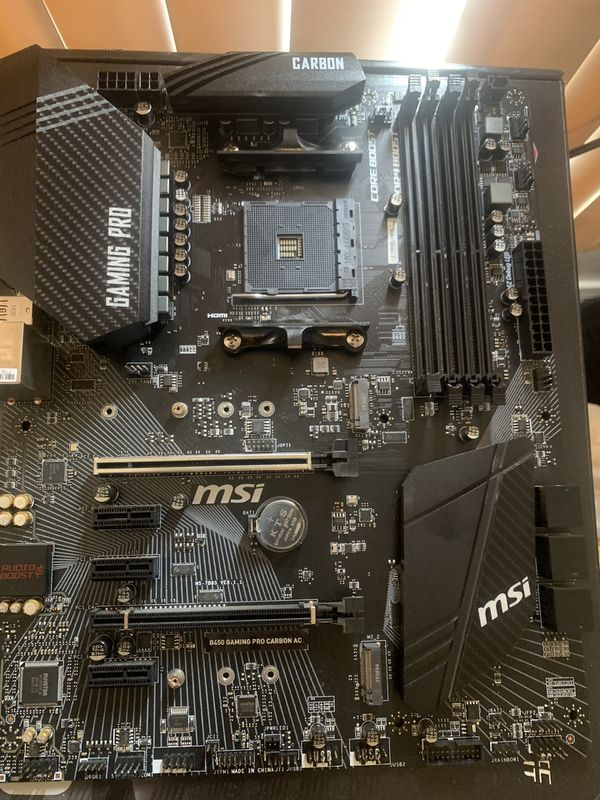 B450 motherboard (MSI gaming pro carbon)