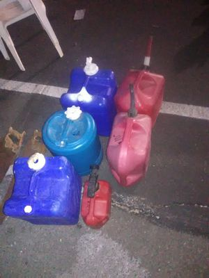 Gas cans and water cans for Sale in Yuma, AZ