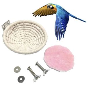 Bird Nest,Parrot Bird Nest, Parrot Bird Hatching Nest, Pure Natural Hand-Woven Cotton Rope Bird Nests for Cages, Bird Nest Ornaments for Christmas Tr for Sale in Las Vegas, NV