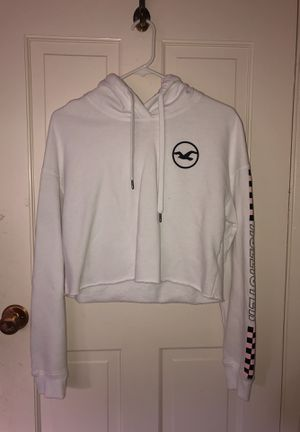 hollister cropped checkerboard hoodie for Sale in San Jose, CA