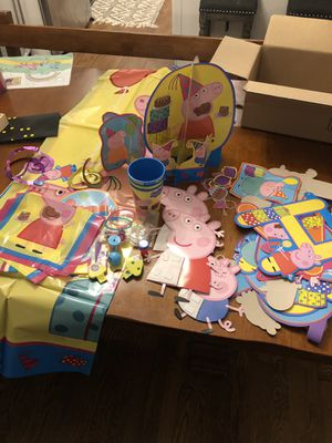 Peppa pig birthday decorations for Sale in Burke, VA
