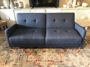 Mid Century Modern Navy Blue Futon for Sale in Glendale, AZ