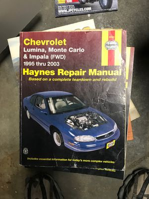 Chevy lumina/monte Carlo/ impala manual for Sale in West Valley City, UT
