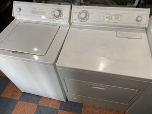 WHIRLPOOL TOP LOAD WASHER AND DRYER SET HEAVY DUTY SET for Sale in West Covina, CA
