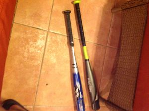 Metal baseball bats . 15 for one 25 for both! for Sale in Medley, FL