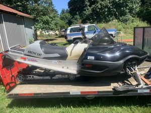 Snowmobile trailer with Arctic Cat Snowmobile for Sale in Carson, WA