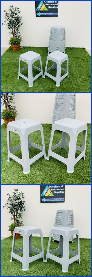 PLASTIC STACK STOOL FOUR LEGGED WHOLESALE OUTDOOR KITCHEN SUPPLIES BAR STOOL for Sale in Stanton, CA