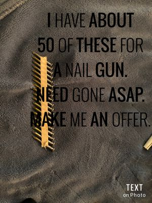 Nails for nail gun for Sale in Stockton, CA