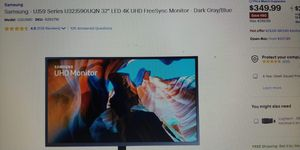 samsung LED 32 4k monitor for Sale in Modesto, CA