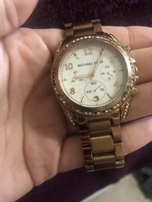 Mk watch rose gold for Sale in Morgantown, WV
