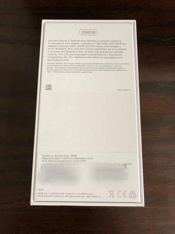 Apple iPhone 8 256GB Unlocked Flawless