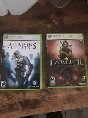Xbox 360 assassins creed and fable 2 for Sale in Hialeah, FL