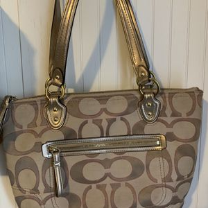 Coach Gold And Pink Shoulder Bag Purse for Sale in Columbus, GA