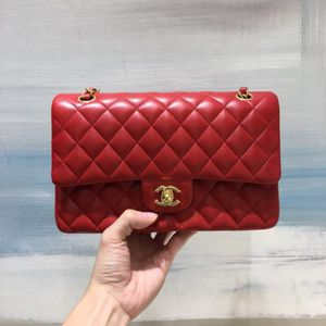 Classic Doubleflap chanel 25cm Bag In red lamskin Gold and silver for Sale in New York, NY