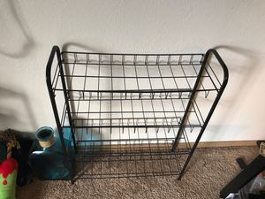 Black wire shelving unit for Sale in Brooks, OR