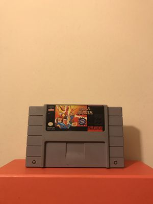Super Nintendo Game: World Heroes Plays Fine Good Condition for Sale in Reedley, CA