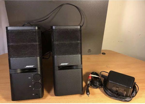 BOSE MEDIAMATE Pair Of Black Computer Speakers 262885 Black Work Great