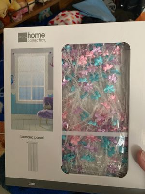 Beaded panel curtains for kids room for Sale in Santa Ana, CA