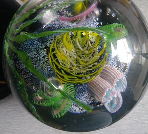 """""""Under the sea"""" coral reef blown glass marble/paperweight for Sale in Portland, OR"""