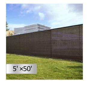 Dark Black 5'x 50' Fabric Fence Windscreen Privacy Screen Shade Cover for Patio Garden Tarp for Sale in Santa Fe Springs, CA
